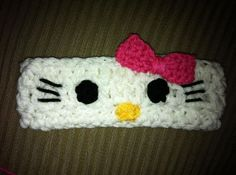 Hello Kitty ear warmer - this would take a fraction of the time my hats take!