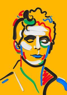 Portrait Illustration New print available on my website! Art And Illustration, Portrait Illustration, Graphic Design Illustration, Art Sketches, Art Drawings, Art Fractal, Tableau Pop Art, Watercolor Flower, Illustrator