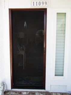Check Out This Clean Desert Sand Colored 90 Solar Screen Garage Door Motorized Power Screen Recen Invisible Screen Door Screen Door Retractable Screen Door