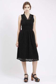 Crochet Midi Dress - Topshop
