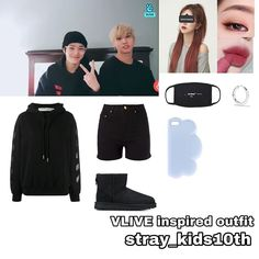 Korean Fashion Kpop Inspired Outfits, Kpop Fashion Outfits, Kids Fashion, Casual Outfits For Teens, Cute Outfits, Kids Inspire, Aesthetic Clothes, Kpop Girls, Writing