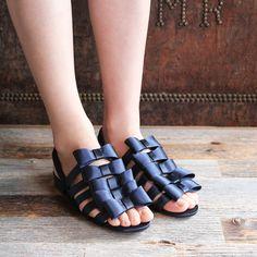 F-TROUPE - Satin Bow Sandal / エフトゥループ・リボンサンダル