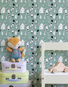 Moomin - Characters Green Wallpaper   #Moomin #wallpaper #tapet #wallmural #kidsroom #ToveJansson #moomincom