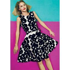 Fun, feminine and flirty in a classic fit and flare. Marimekko Talia White/Black Dress - $298