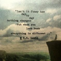 """""""...everything is different."""" C.S. Lewis - Imgur"""