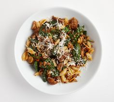 A low, steady simmer makes this braise a great pork ragù to pour over your cavatelli.