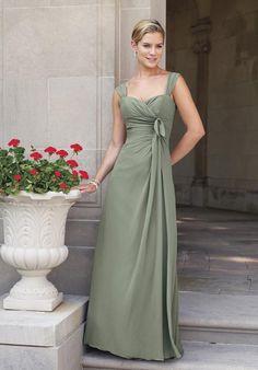 A-Line Sweetheart Floor-length Chiffon Bridesmaid Dress Style BY1978