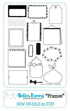 14,76 € - FRAMES Planner Stamps Photopolymer Clear Stamps von AtelierDreams