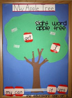 Sight Word Apple Tree (from Fantastic Fun & Learning via This Reading Mama)