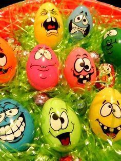 White Eggs And Many Funny Face