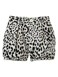 I think I just died a little bit...these are soooooooo cute!!!  Printed cord bubble shorts