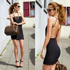 #fashion #women's #outfit's #style  #clothes   #dapper  #chic      #class   #clasic  #vintage #summer #Style Moi Backless Mini Dress