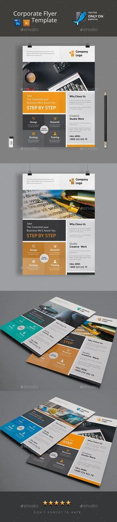 Flyer for $7 #PrintTemplates #graphic #templates #GraphicResource #sets #graphicdesign #collection #DesignResources #design #flyer #BusinessFlyers #DesignSet #FlyerTemplate #EnvatoMarket #PrintDesign #CorporateFlyer #business #DesignCollection #company #flyers Business Flyer Templates, Business Flyers, Print Design, Graphic Design, Text Fonts, Corporate Flyer, Marketing Plan, Print Templates, Artist At Work