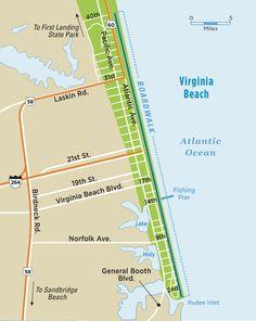 Virginia Beach Boardwalk Map | Virginia Beach Vacation Guide
