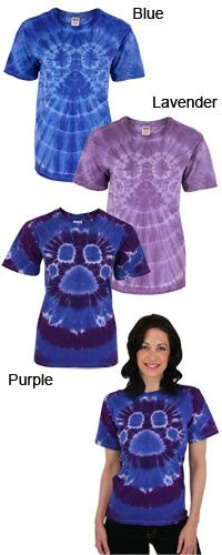 Groovy Paw-Dye T-Shirt at The Animal Rescue Site  These are all ready preshrunk for only $18.95 for sm $19.95 for xxl plus 14 bowls of food gets donated to the animal shelters