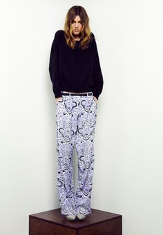 Slouchy Sweater and Printed Pants!