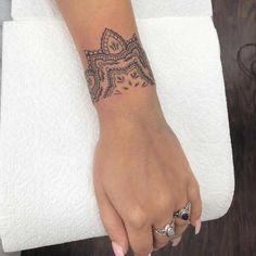Henna Arm Tattoo, Tribal Hand Tattoos, Mandala Wrist Tattoo, Wrist Band Tattoo, Hamsa Hand Tattoo, Cuff Tattoo, Boho Tattoos, Lace Tattoo, Sexy Tattoos