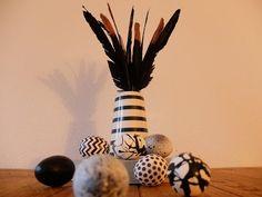 enidan's art: deko ¦ federspitzen können auch glitzern Easter, Blog, Copper, Deco, Easter Activities, Blogging