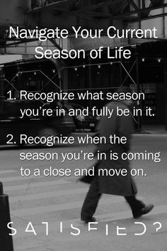 Know Your Season Of Life