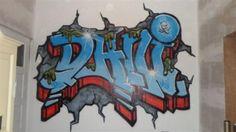Graffiti op de kamer van DANI