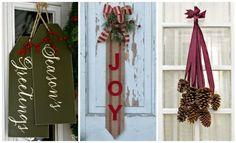 50 festive do it yourself christmas wreath ideas wreaths 14 diy christmas door decorations holiday door decorating ideas intended for unique christmas decorations solutioingenieria Gallery