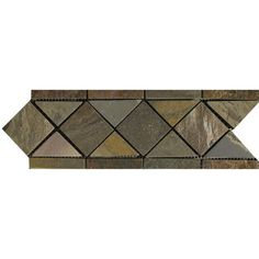 Accent Tiles Wayfair Natural Stone 11 X 4 Slate Border 14 Listello In Multicolor. moen kitchen faucet. kitchen backsplash. david burke kitchen. post punk kitchen.