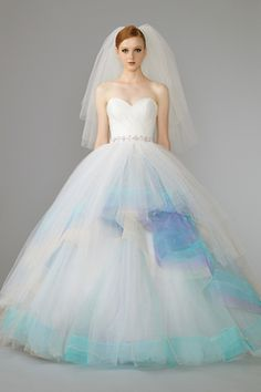 Style 3555 from Lazaro | Wisteria tulle bridal ball gown ...