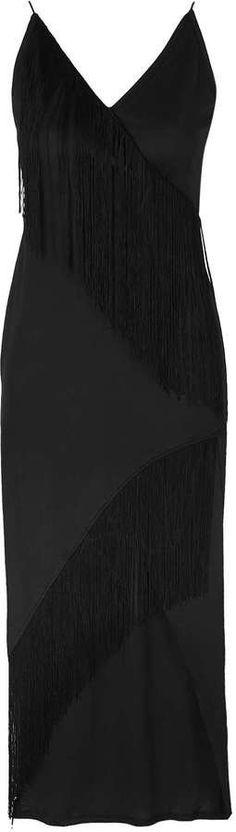 Pin for Later: 99 Robes Rétro Pour Une Soirée à Thème Great Gatsby  Topshop **Maxi robe portefeuille à franges, Rare (57€)