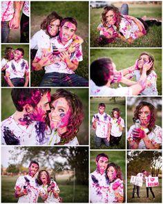 this engagement shoot looks soo fun