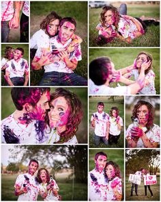 These would be the most fun engagement pictures. :D