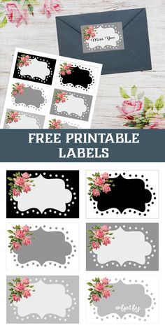 printable labels that you can use for so many different things!  Add a little pizzaz to your envelopes...packages...storage boxes and more!  #FreePrintableLables #FreePrintables #FreePrintable #Labels #PrintablePrettyLabels