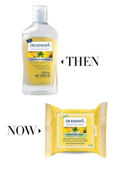 Satisfyingly large cloths are soaked with the same bracing blend of anti-inflammatory witch hazel, lifting makeup and grime with nary a soggy cotton ball in sight. Dickinson's Original Witch Hazel Toner, $5.99, walgreens.com; Dickinson's Original Witch Hazel Cleansing Cloths, $6.99, walgreen.com.
