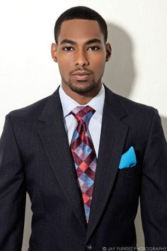 Suited: Jerome J... I don't know who this is, but he's prettier than me...