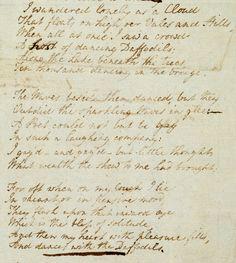 Daffodils by William Wordsworth   Daffodils by William Wordsworth (© The British Library Board) / February 18, 2015