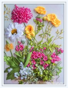 Wonderful Ribbon Embroidery Flowers by Hand Ideas. Enchanting Ribbon Embroidery Flowers by Hand Ideas. Embroidery Designs, Types Of Embroidery, Learn Embroidery, Embroidery For Beginners, Embroidery Patterns, Embroidery Techniques, Hardanger Embroidery, Silk Ribbon Embroidery, Hand Embroidery