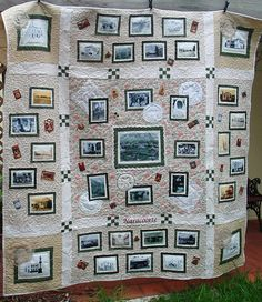 Stitch family history right onto the quilt!