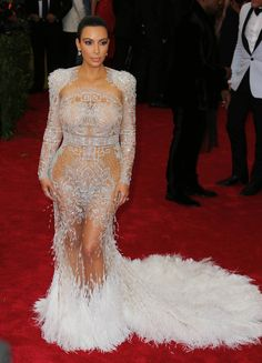 Kim Kardashian au Met Gala à New York le 4 mai 2015