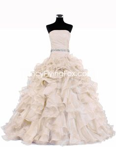 fancyflyingfox.com Offers High Quality Ivory Ball Gown Wedding Dress With Multi Layered ,Priced At Only US$298.00 (Free Shipping)