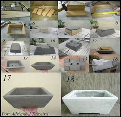 Cement Garden, Cement Art, Concrete Crafts, Concrete Projects, Concrete Planters, Concrete Cement, Concrete Design, Beton Design, Diy Design