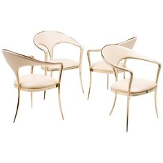 Brass Vidal Grau Cosmos Chairs in Nappa Leather | From a unique collection of antique and modern armchairs at https://www.1stdibs.com/furniture/seating/armchairs/
