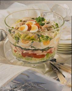Unser beliebtes Rezept für Schichtsalat mit Thunfischsoße und mehr als 55.000 weitere kostenlose Rezepte auf LECKER.de.
