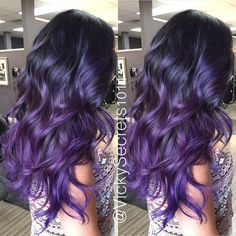 Kosmetik Schwarzes Haar mit lila Balayage How To Dye Your Pubic Hair More recently, women have becom Pretty Hairstyles, Wig Hairstyles, Black Hairstyles, Purple Balayage, Dye My Hair, Ombre Hair Color, How To Ombre Hair, Hair Color Black, Human Hair Wigs