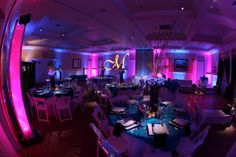 We've lit up Avila Lighthouse Suites in just about every color and it never gets old! Check out some of our work at this cute venue. www.kramerevents.com
