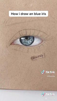 Art Drawings Sketches Simple, Pencil Art Drawings, Realistic Drawings, Drawing Art, Eye Drawing Simple, Iris Drawing, Colorful Drawings, Drawing Ideas, Aesthetic Drawing