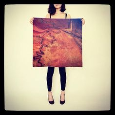 Mars Scarf  Salt Flats  Silk Scarf   Square Scarf by DifferentCity