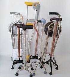 Height Adjustable Aluminium Quad Cane Walking Stick Four Legs Center Base Aid Leg Support Back Posture Corrector, Mobility Aids, Walking Sticks, Aluminium Alloy, Instruments, Medical, Base, Legs, Circuit