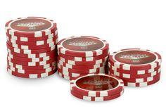 Rouleau de 25 jetons Laser Las Vegas $5 - Pokeo.fr - Rouleau de 25 jetons de poker Laser Las Vegas $5 rouge en PP stické 11,5g pour joueurs débutants.