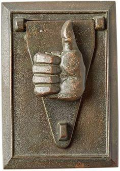 Rejuvenation Cast Bronze Texas A&M Door Knocker w/ Thumbs Up