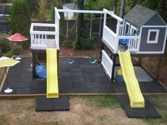 Most awesome DIY swing set ever! Love this!