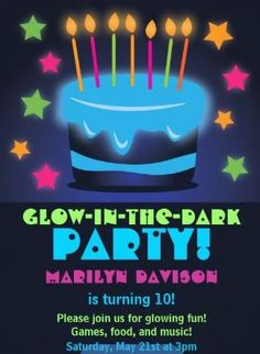 Image result for glow party invitation free templates